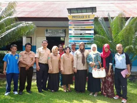 Kegiatan Penilaian Sekolah Sehat SDN 001 Kampung Batu Putih
